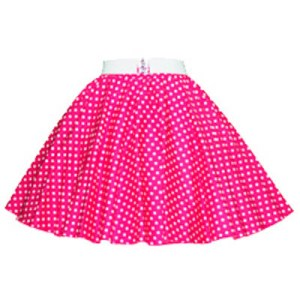 Childs Cerice Pink / Wht 7mm PD Circle Skirt