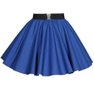 Childs Plain Royal Blue  Circle Skirt