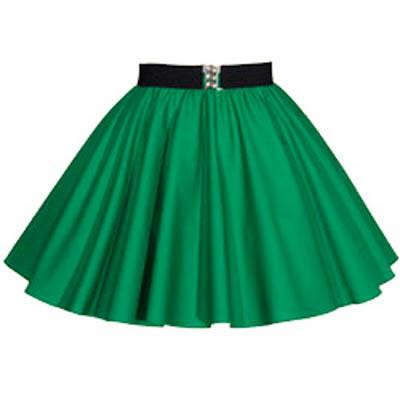 Childs Plain Emerald Green Circle Skirt