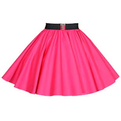 Childs Plain Cerise Pink  Circle Skirt