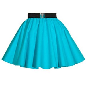 Sale – 16″ Plain Peacock Blue  Circle Skirt (XSmall)