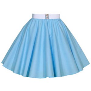 Childs Plain Light Blue Circle Skirt