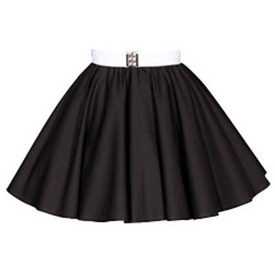 Sale – 17″ Plain Black Skirt (XSmall)