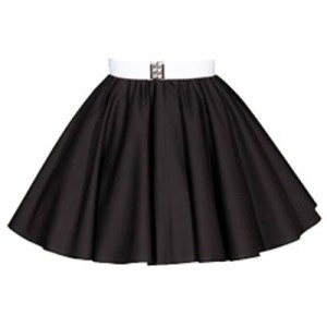 Sale – 19 Inch Plain Black  Circle Skirt (XSmall)