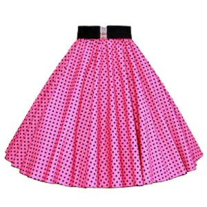 Sale – 21″ (Small) Pink/ Blk 7MM PD Circle Skirt