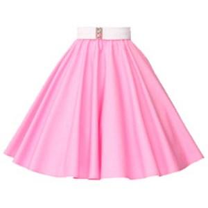 Plain Sugar Pink Circle Skirt