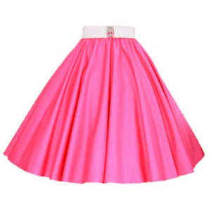 Plain Cerise Pink Circle Skirt