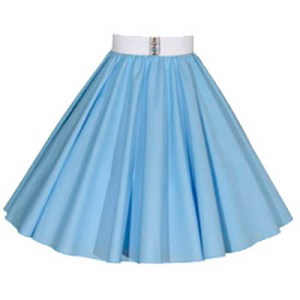 Plain Light Blue Circle Skirt