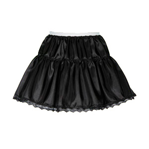 Sale 11″ Childs 2 Tier Taffeta Petticoat in  Black