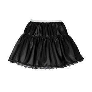 Sale 11″ Childs 2 Tier Taffeta Petticoat in  Black