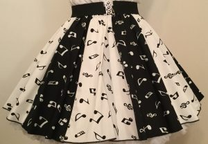 Wht Small MN & Blk Small MN  Panel Skirt