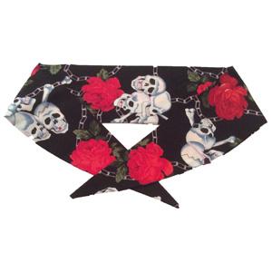 Skull & Roses Neckerchief