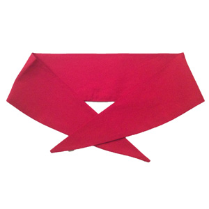 Ladies Plain Cerise Neckerchief