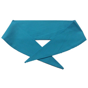 Ladies Plain Peakock Blue Neckerchief