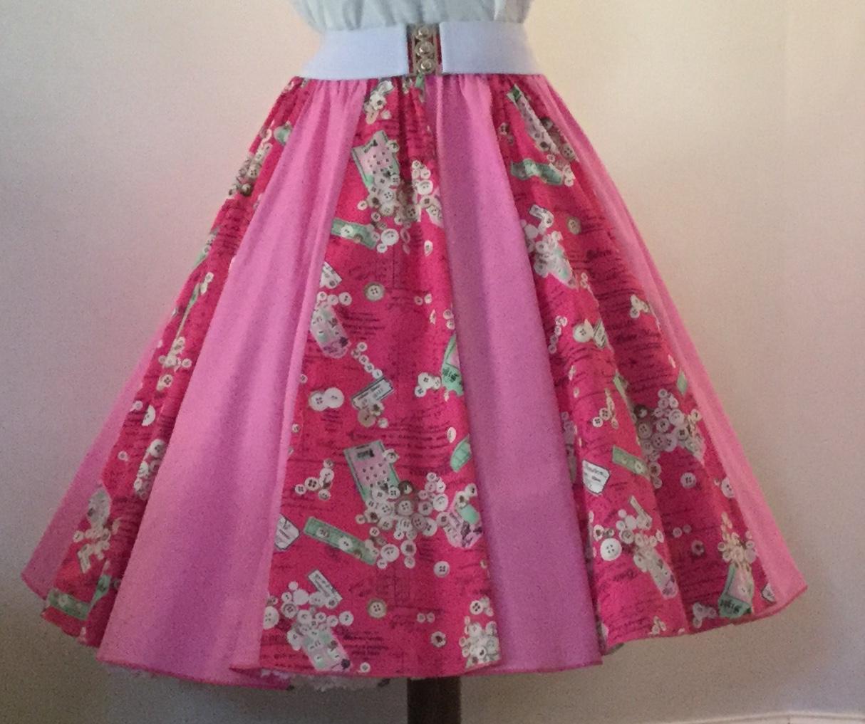 Cerise Labels / Plain Pink  Panel Skirt