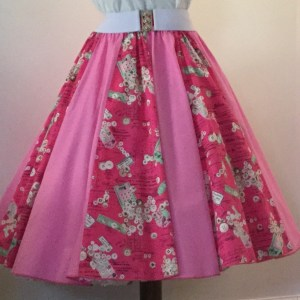 Cerise Labels / Plain Pink  Panel Skirt