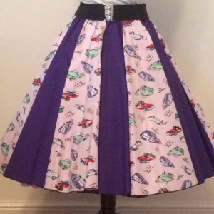 Classic Cars / Plain Purple Panel Skirt