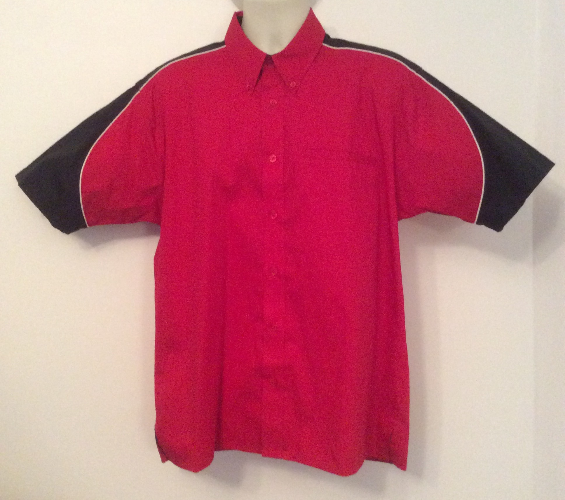 Ready Embroidered 186 Red/ Black Shirt (Size Large)