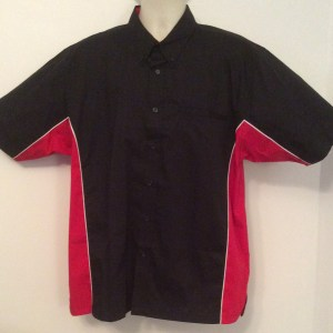 Ready Embroidered 185 Black / Red  Shirt (Size XLarge)