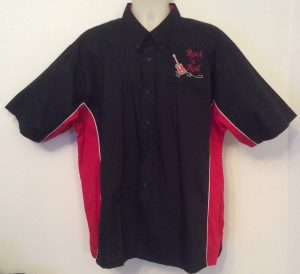 Ready Embroidered 185 Black / Red  Shirt (Size XXLarge)