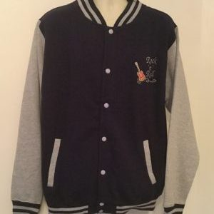 Unisex Varsity Sweatshirt Jacket  Navy / Heather (XLarge)