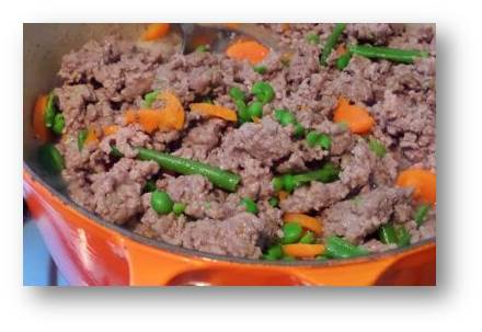 lamb and vegetables for dogs