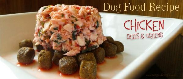 chicken beet dog food