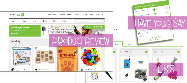 Berry clever pets website how it works