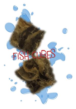 fish cube dog treats