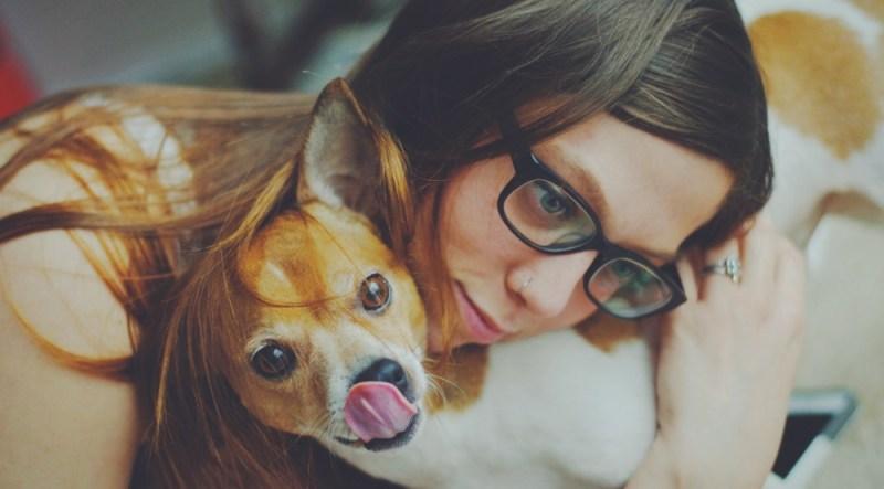 Emotional Support dog inside