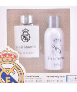 Conjunto de Perfume Homem Real Madrid Sporting Brands (2 pcs)