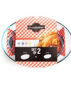 Conjunto de Travessas para Forno Ô Cuisine Vidro de borosilicato (2 pcs)