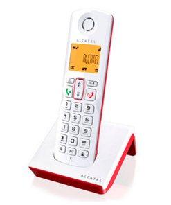Telefone sem fios Alcatel S-250 DECT SMS LED Branco Vermelho