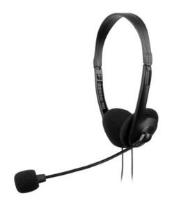 Auriculares com microfone Tacens AH118 Preto