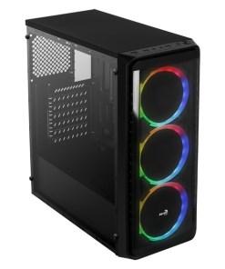 Caixa Semitorre ATX Aerocool SI5200RGB RGB USB 3.0 Preto