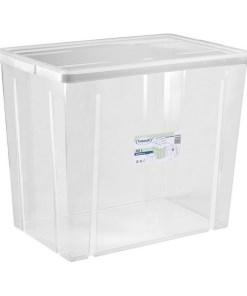 Caixa de Armazenagem com Tampa Tontarelli 80 L Transparente (59 X 39 x 48 cm)