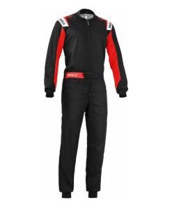 Mono Karting Sparco Rookie Preto/Vermelho (Tamanho XL)
