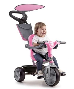 Triciclo Feber Baby Plus Music Cor de rosa