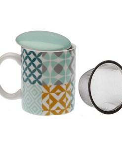 Chávena com Filtro para Infusões Aqua Karlsen Porcelana