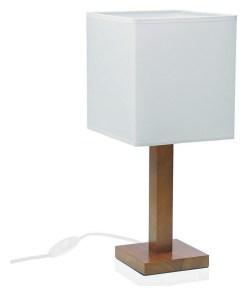 Lâmpada de Mesa Madeira (12 x 45 x 12 cm) Branca