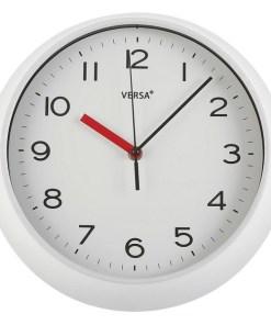 Relógio de Parede Plástico (6,6 x 29,3 x 29,3 cm) Branco