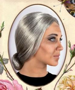 Peruca Cabelos grisalhos 116065