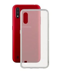 Capa para o Telemóvel com Extremidades em TPU Samsung Galaxy A01 KSIX Flex Transparente