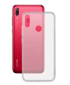 Capa para Telemóvel Huawei Y7 2019 KSIX Flex Transparente