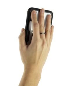Capa com Anel Iphone KSIX Transparente