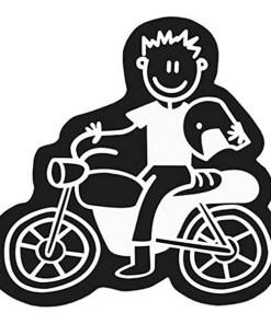 Adesivo para Carros Family Homem Motocicleta