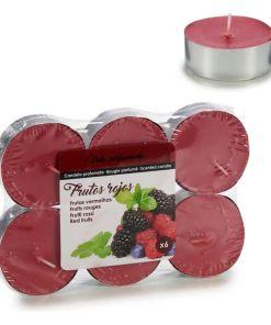 Velas Maxi Tea Light Frutos Vermelhos (6 pcs)