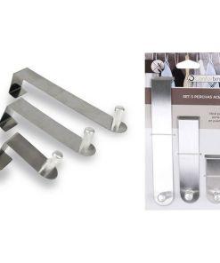 Ganchos para Portas Confortime Aço inoxidável (3 Uds)