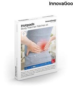 Emplastros Térmicos Corporais Hotpads InnovaGoods (Pack de 4)