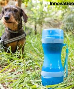 Garrafa com Depósito de Água e Comida para Animais de Estimação 2 em 1 Pettap InnovaGoods